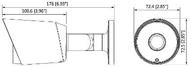 HD CVI KAMERA PAL DH HAC HFW1400TP 036 0B 3 7 Mpx 3 6 mm DAHUA