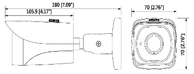 KAMERA HD CVI PAL DH HAC HFW2401EP 060 0B 3 7 Mpx 6 0 mm DAHUA