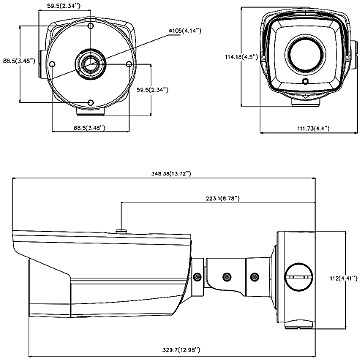 KAMERA IP DS 2CD4A35FWD IZH 8 32MM 3 Mpx Hikvision