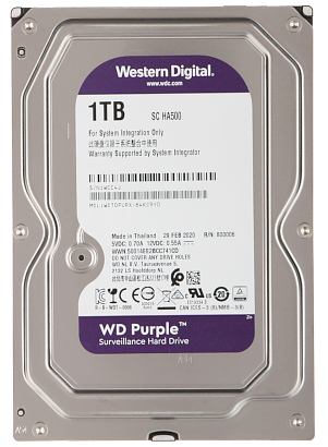 DYSK DO REJESTRATORA HDD WD10PURX 1TB 24 7 WESTERN DIGITAL