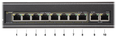 SWITCH PoE DO SZAFY RACK RS 108 10 PORTOWY PULSAR