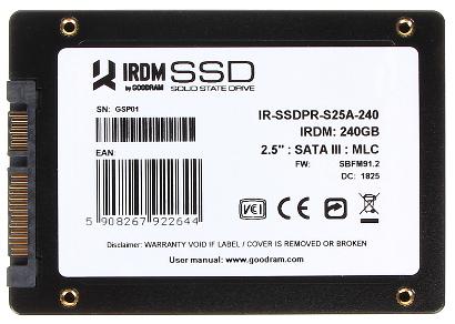 DYSK DO REJESTRATORA SSD PR S25A 240GB GOODRAM