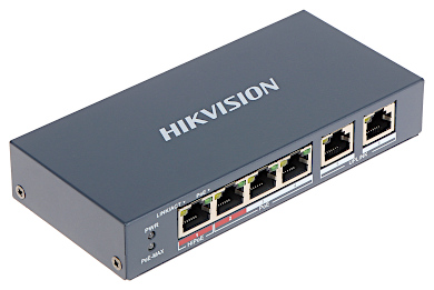 SWITCH PoE DS 3E0106HP E 6 PORTOWY Hikvision