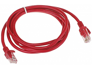 PATCHCORD RJ45 1 8 RED 1 8 m