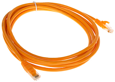 PATCHCORD RJ45 6 3 0 ORANGE 3 m