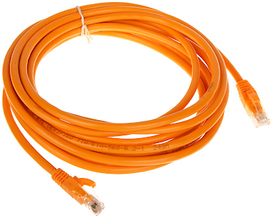 PATCHCORD RJ45 6 5 0 ORANGE 5 m